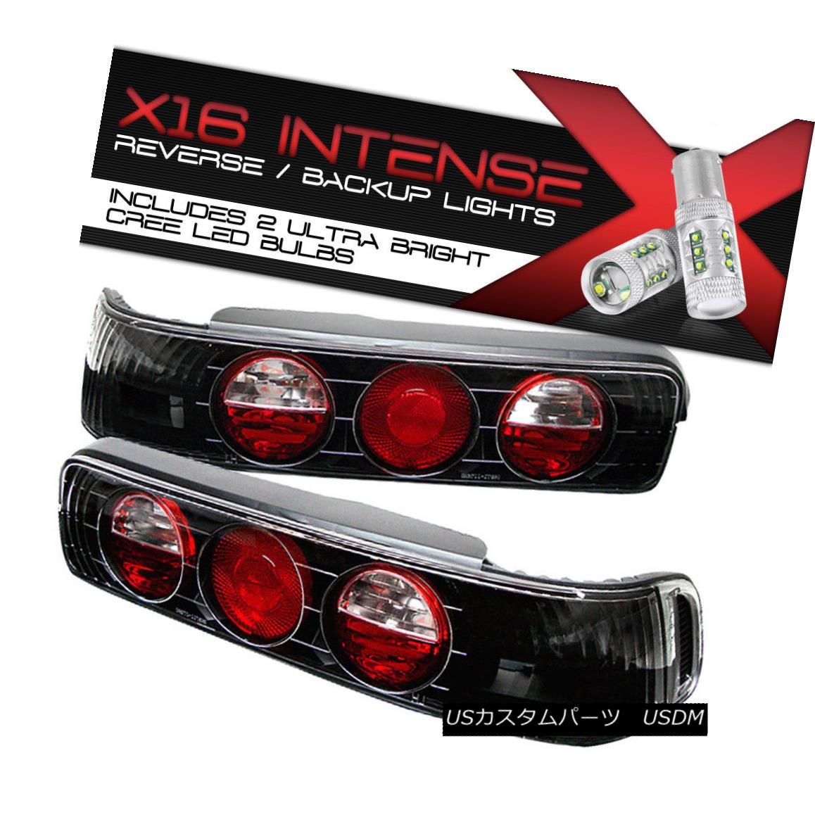 テールライト !Cree LED Reverse! Acura 90-93 Integra B18 VTEC L+R JDM Black Tail Lights Brake !クリーLEDリバース! Acura 90-93 Integra B18 VTEC L + R JDMブラックテールライトブレーキ