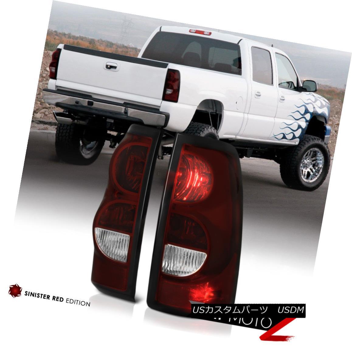 テールライト 2003-2006 Chevy Silverado DARK RED Brake Tail Lights Lamps +Wiring +Bulbs 2003-2006シボレーシルバラードダークレッドブレーキテールライトランプ+配線+電球