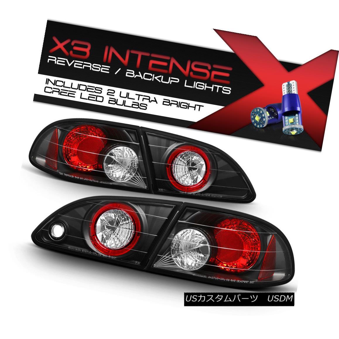テールライト [CREE LED BACKUP] 98-02 Toyota Corolla LE/VE/S JDM Black Altezza Taillight Brake [CREE LED BACKUP] 98-02トヨタカローラLE / VE / S JDMブラックAltezzaテールライトブレーキ
