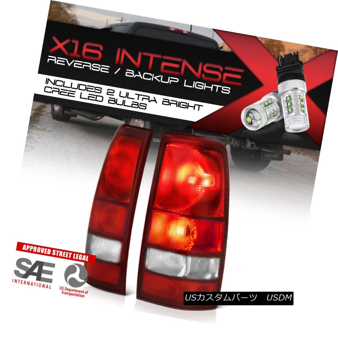 テールライト !High-Power CREE Backup! 1999-2006 GMC Sierra 1500 2500 Tail Lights Assembly NEW !ハイパワークリーバックアップ! 1999-2006 GMC Sierra 1500 2500テールライトアセンブリNEW