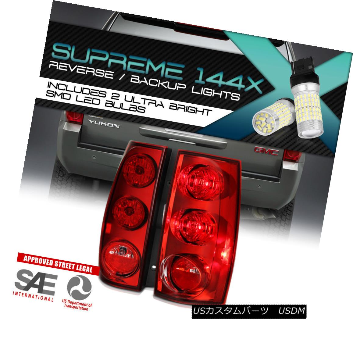 テールライト {FULL SMD REVERSE} [NEW STYLE] 2007-2014 GMC Yukon XL Suburban Tahoe Tail Lights {FULL SMD REVERSE} [NEW STYLE] 2007-2014 GMC Yukon XL郊外のタホテールライト