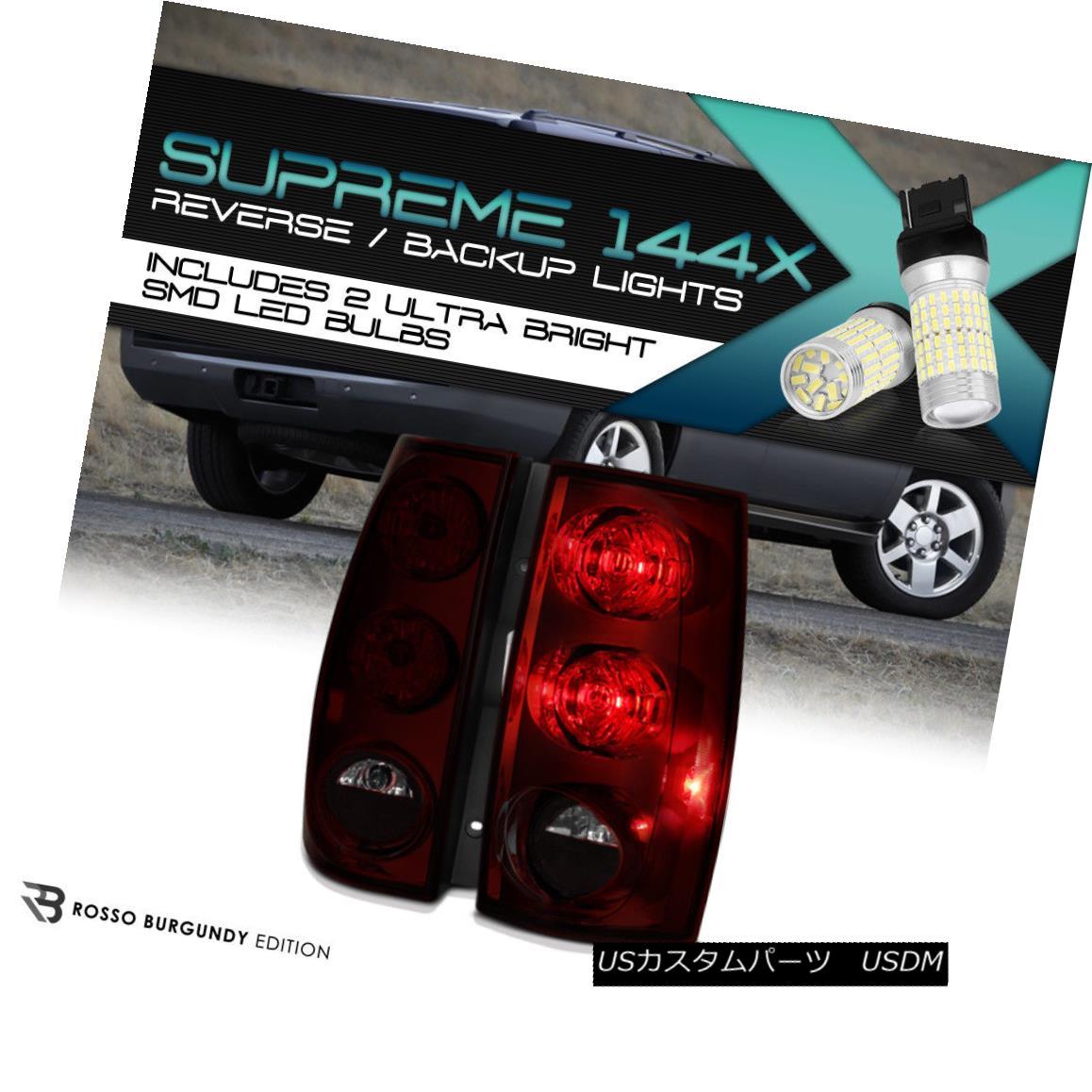 テールライト {360 DEGREE SMD REVERSE} 07-14 Chevy Suburban Tahoe GMC Yukon XL Tail Lights SET {360°SMD REVERSE} 07-14シボレー郊外タホGMCユーコンXLテールライトSET