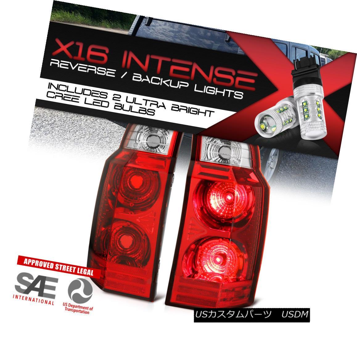 テールライト BRAND NEW !CREE LED REVERSE! Pair Red Tail Lights For 2006-2010 Jeep Commander 新しいブランド!CREE LED REVERSE! 2006-2010ジープコマンダーのレッドテールライトペア