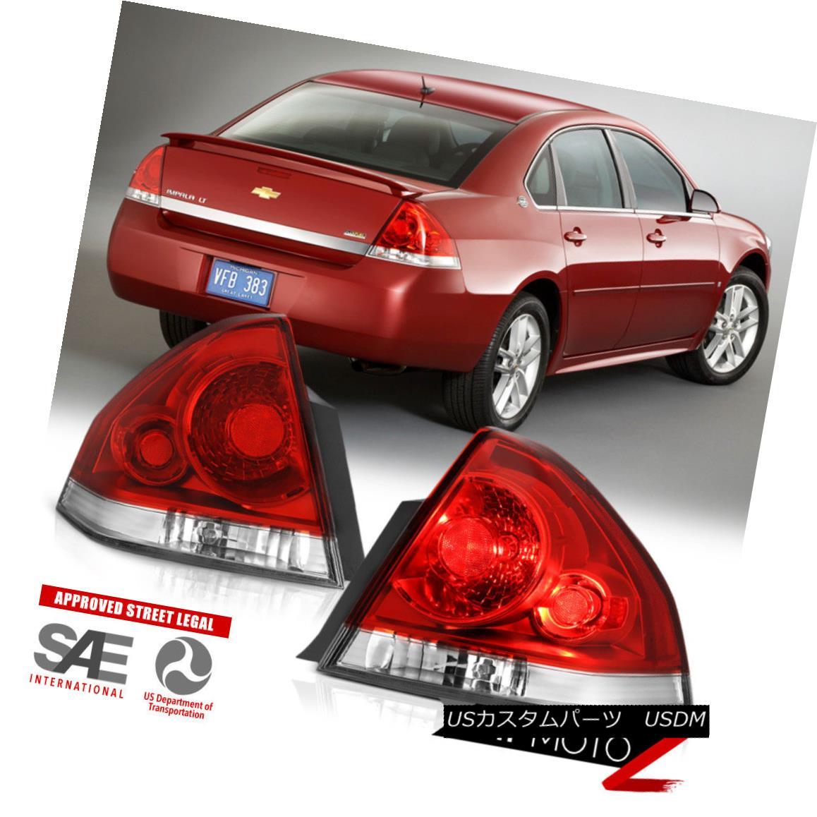 テールライト [LEFT+RIGHT] 2006-2013 Chevy Impala Factory Style Red Tail Lights Wiring Harness [左+右] 2006-2013シボレーインパラ工場スタイルレッドテールライトワイヤハーネス