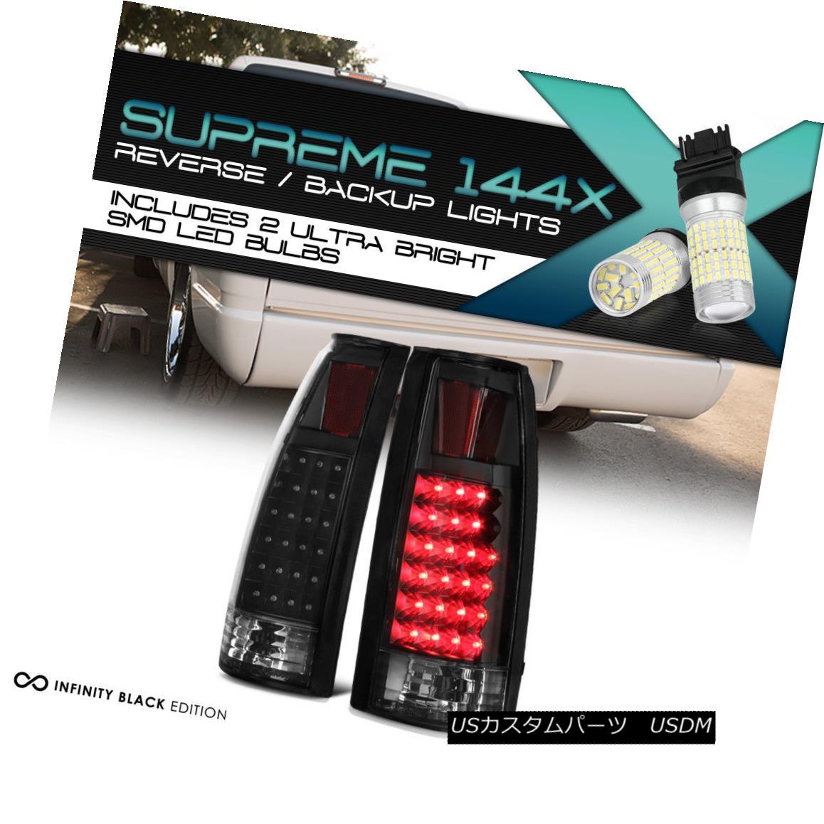 テールライト Full SMD Backup Matte Super Flux LED Tail Lamp 88-98 Chevy Truck Tahoe Yukon C10 フルSMDバックアップマットスーパーフラックスLEDテールランプ88-98シボレートラックタホユーコンC10