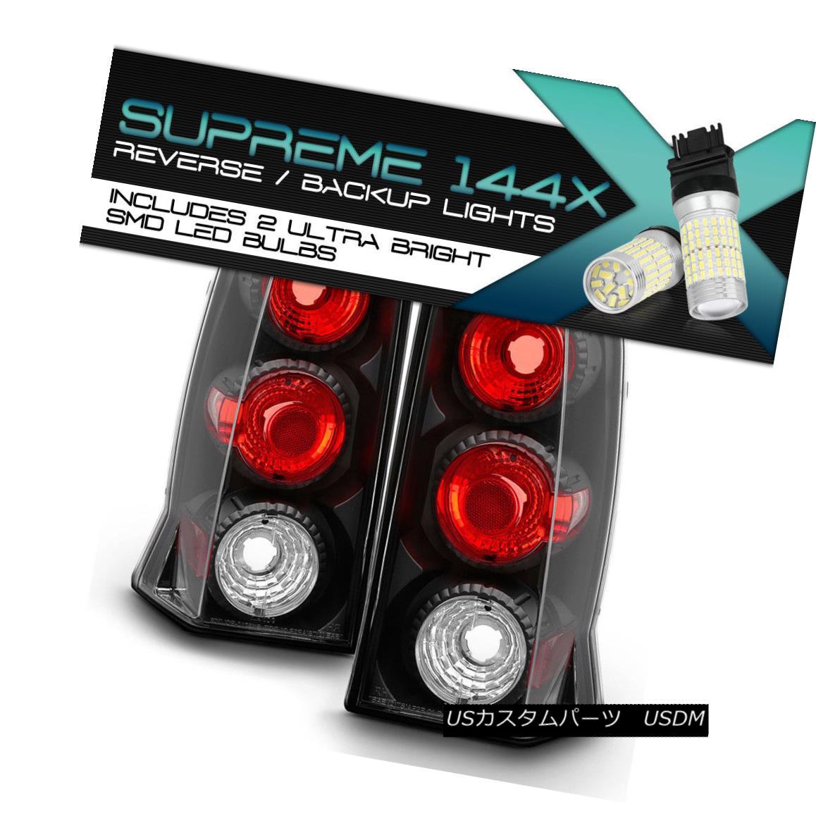 テールライト {FULL SMD BACKUP} 02-06 Cadillac Escalade Sport ESV Black Tail Lamps Rear LH RH {FULL SMD BACKUP} 02-06キャデラックエスカレードスポーツESVブラックテールランプリアLH RH