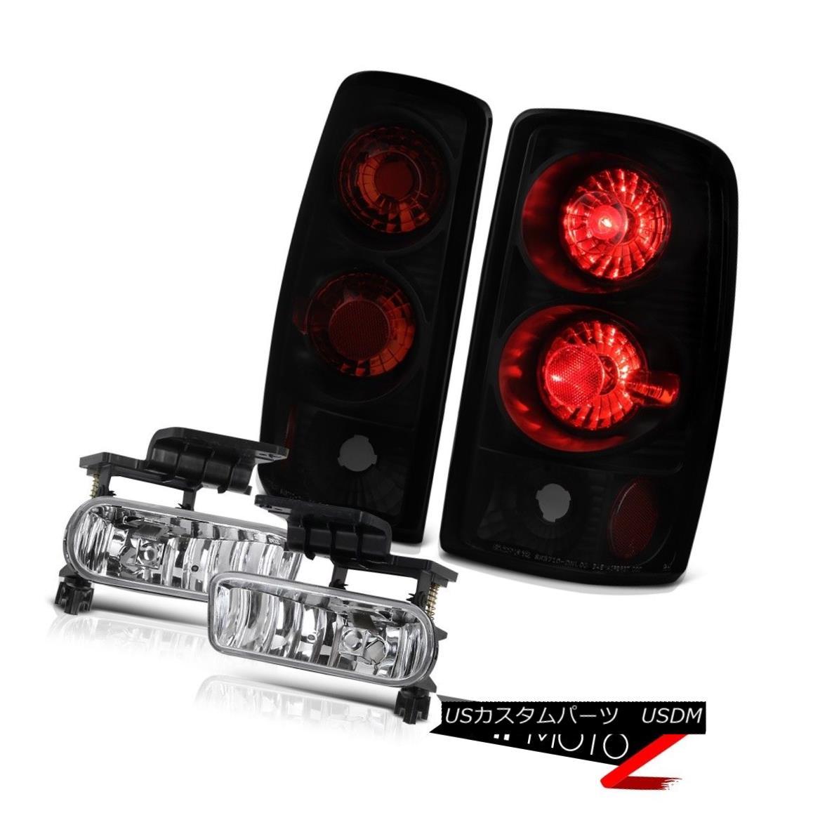 テールライト 2000-2006 Suburban 2500 Black Smoke Replacement Tail Lights Driving Fog Lamp L+R 2000-2006郊外2500ブラックスモーク交換テールライトドライフォグランプL + R