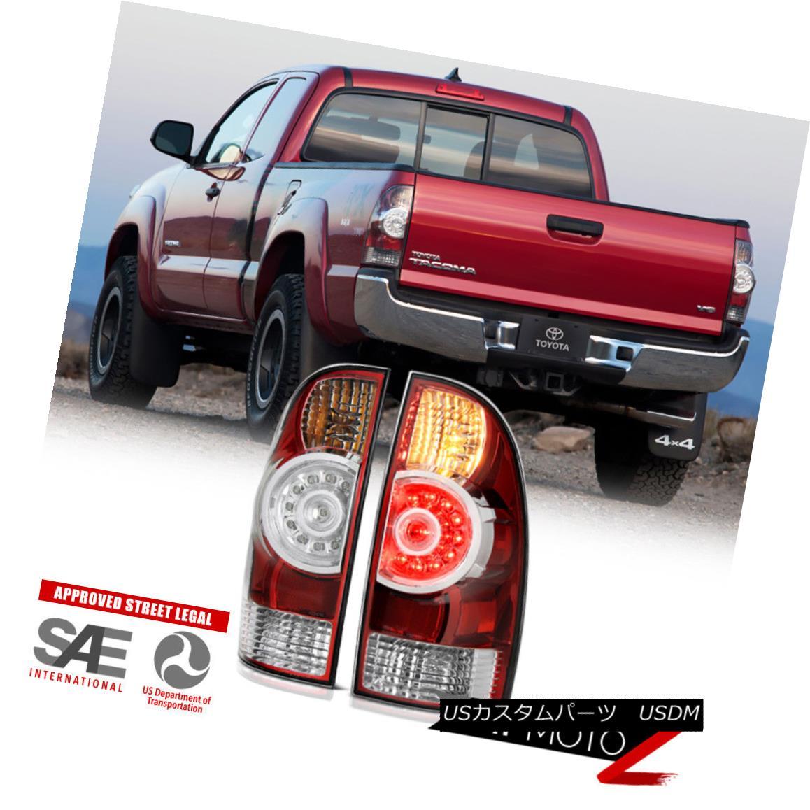 テールライト [FACTORY LED STYLE] 2005-2015 Toyota Tacoma All Model Rear LED Tail Lights Lamps [FACTORY LED STYLE] 2005-2015 Toyota Tacoma全モデルリアLEDテールライトランプ