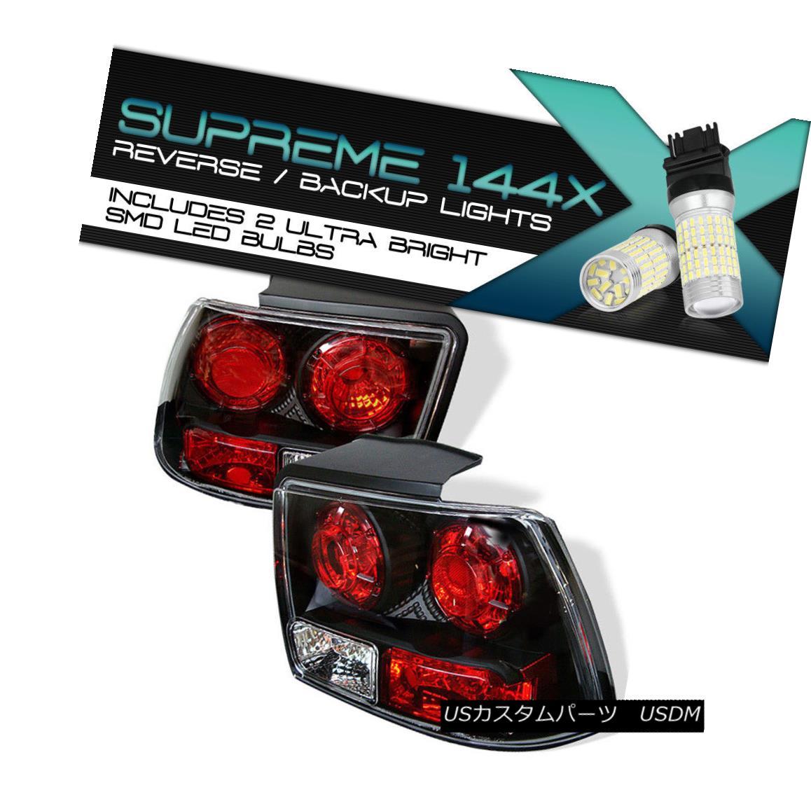 テールライト !FULL SMD REVERSE! 1999-2004 Ford Mustang V6 L@@K V8 Black Tail Light Rear Brake !FULL SMD REVERSE! 1999-2004フォードマスタングV6 L @@ K V8ブラックテールライトリアブレーキ
