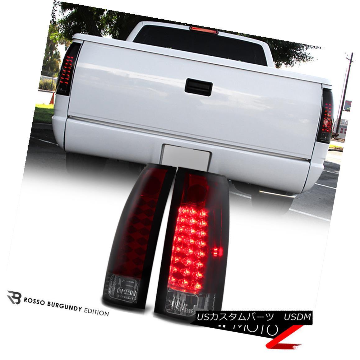テールライト 1988-1998 Chevy GMC C/K 1500 2500 3500 [CHERRY RED] Smoke LED Tail Lights Lamps 1988-1998 Chevy GMC C / K 1500 2500 3500 [CHERRY RED]スモークLEDテールライトランプ