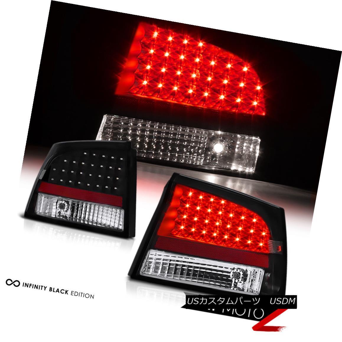 テールライト 2006-2008 DODGE CHARGER BLACK LED TAIL LAMPS SIGNAL BRAKE REVERSE BRAKE LH+RH 2006-2008 DODGE CHARGER BLACK LEDテールランプ信号ブレーキリバースブレーキLH + RH
