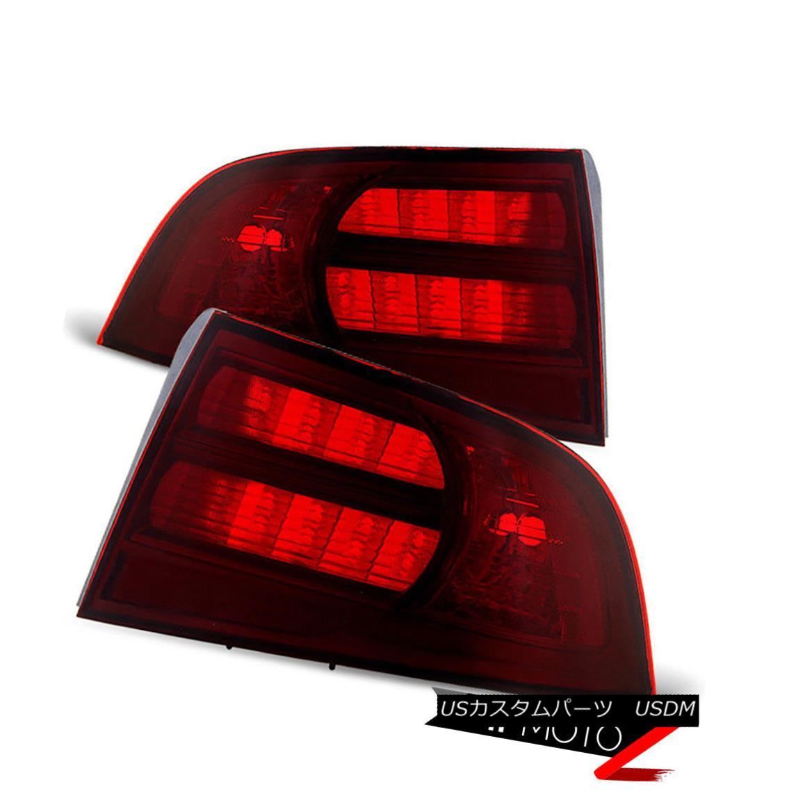 テールライト 2004-2008 Acura TL | TYPE-S Dark Red Rear Tail Lights Lamps PAIR Assembly PAIR 2004-2008 Acura TL | TYPE-SダークレッドリアテールライトランプPAIR Assembly PAIR