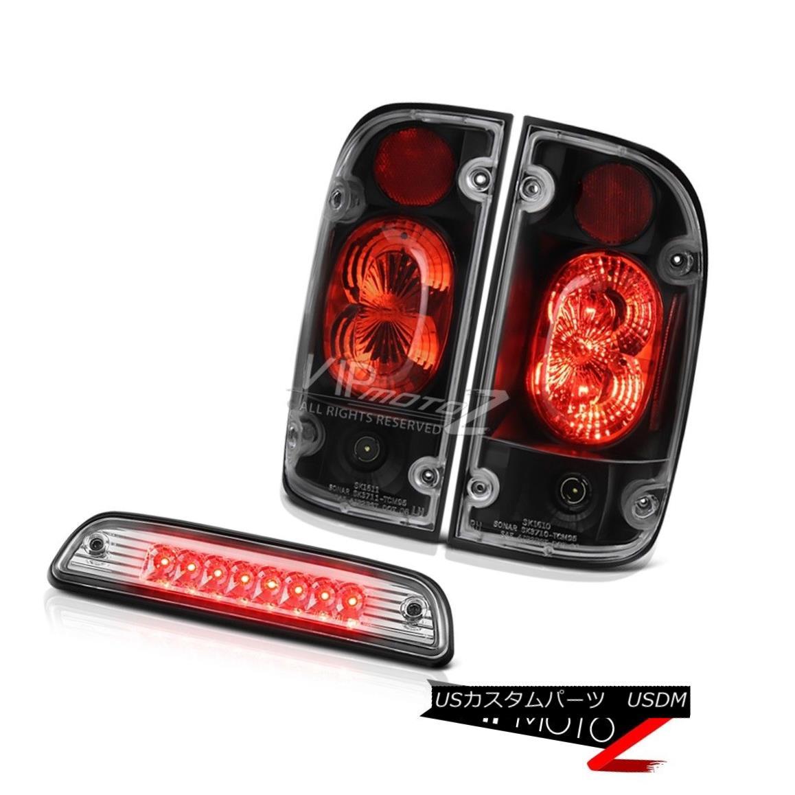 テールライト 01 02 03 04 Toyota Tacoma Limited Roof brake light matte black tail lamps LED 01 02 03 04 Toyota Tacoma LimitedルーフブレーキライトマットブラックテールランプLED