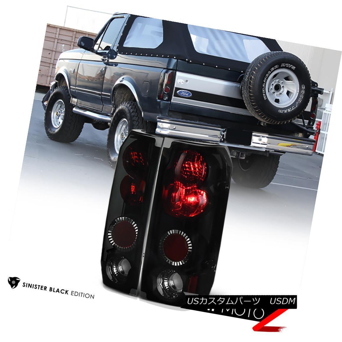 テールライト {SINISTER BLACK} L+R Tail Light Lamp Assembly FORD 1989-1996 F150 1992-96 Bronco {SINISTER BLACK} L + RテールライトランプアセンブリFORD 1989-1996 F150 1992-96 Bronco