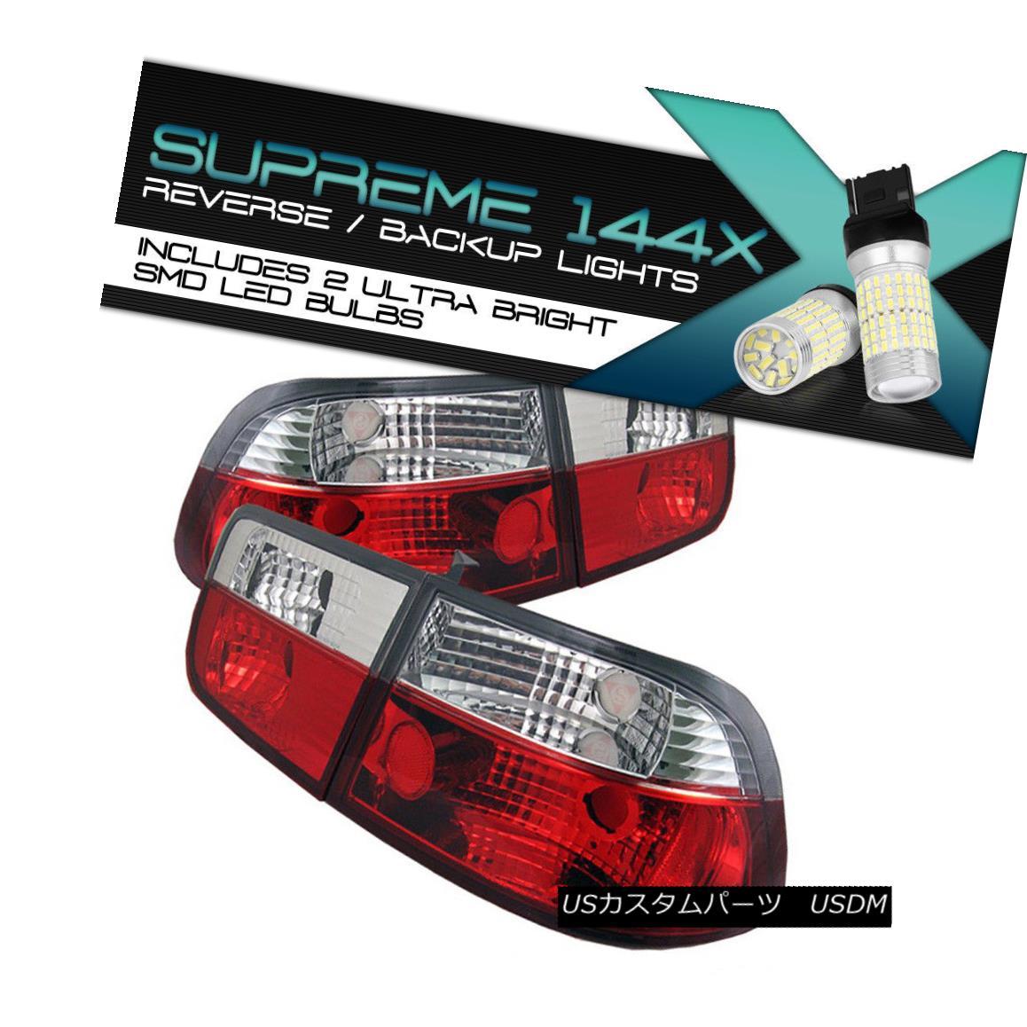 テールライト {Full SMD Backup} CLEAR LED Tail Light Turn Signal 96-00 CIVIC EM 2DR Coupe B16 {フルSMDバックアップ} CLEAR LEDテールライト回転信号96-00 CIVIC EM 2DRクーペB16