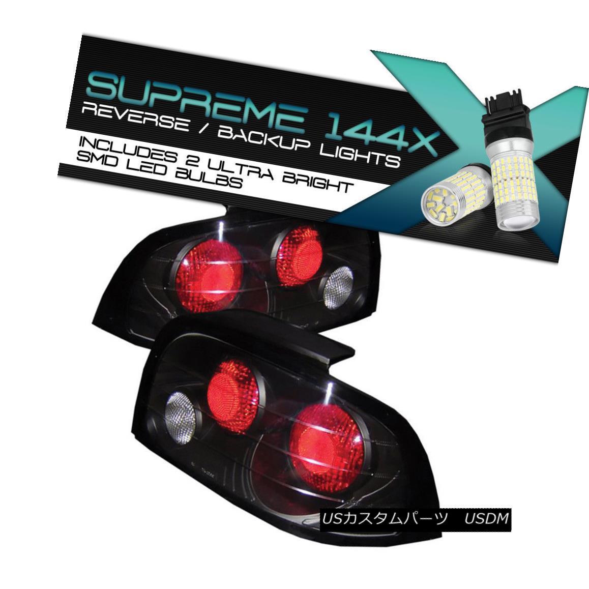 テールライト 360 Degree SMD Reverse 96-98 Ford L@@K Mustang V6 Black Tail Lights Left Right 360度SMDリバース96-98フォードL @ KムスタングV6ブラックテールライト右に左