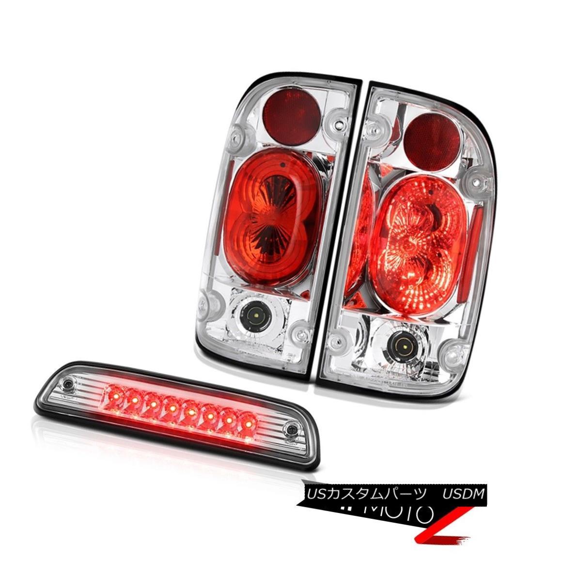 テールライト 01-04 Toyota Tacoma SR5 Sterling chrome roof cargo light rear brake lamps LED 01-04トヨタタコマSR5スターリングクロームルーフカーゴライトリアブレーキランプLED