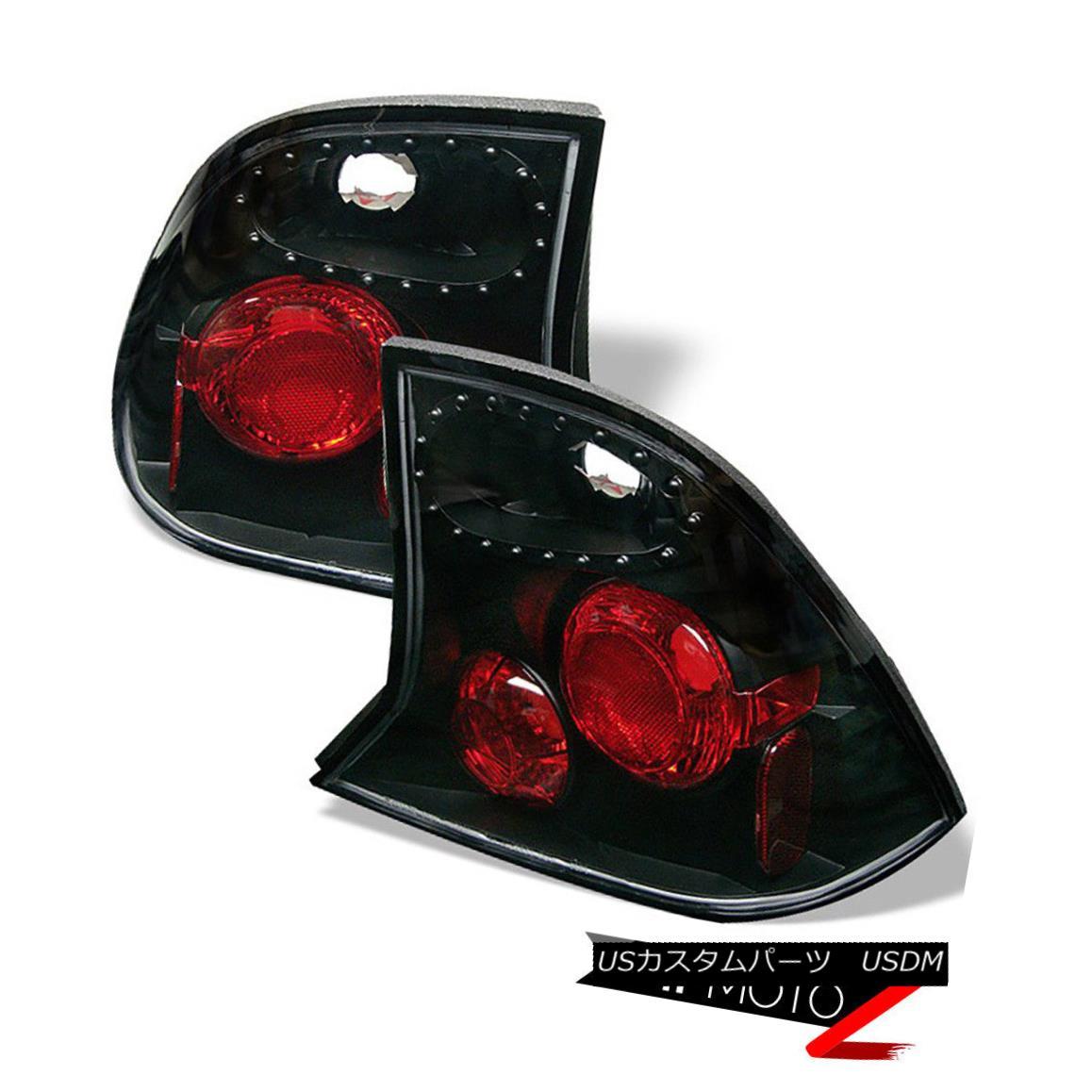 テールライト L@@K Ford Focus 2000-2004 4DR Black Tail Lights Rear Brake Lamp LH RH Pair L @@ Kフォードフォーカス2000-2004 4DRブラックテールライトリアブレーキランプLH RHペア