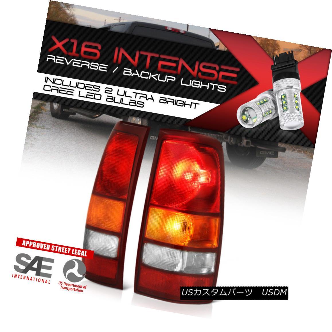テールライト {CREE LED BACKUP} 1999-2002 Chevrolet Silverado Rear LEFT RIGHT Brake Tail Light {クリーLEDバックアップ} 1999-2002シボレーシルバラードリア左ライトブレーキテールライト