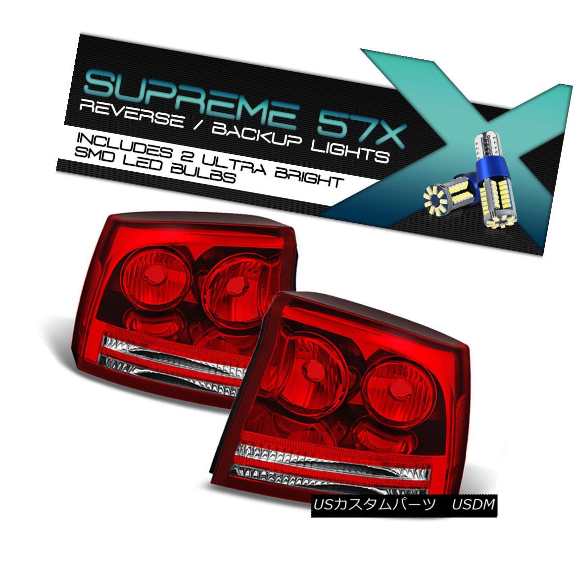 テールライト FULL SMD BACKUP 06-08 Dodge Charger [Factory Style] Tail Lights Passenger Driver FULL SMD BACKUP 06-08ダッジチャージャー[工場スタイル]テールライト乗客ドライバー