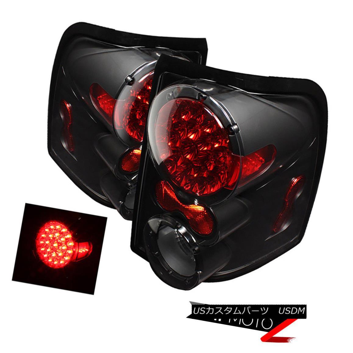 テールライト Black LED Taillight Brake Signal Lamp Assembly 02-05 Ford Explorer Sport/XLS/XLT ブラックLEDテールライトブレーキ信号ランプアセンブリ02-05 Ford Explorer Sport / XLS / XLT