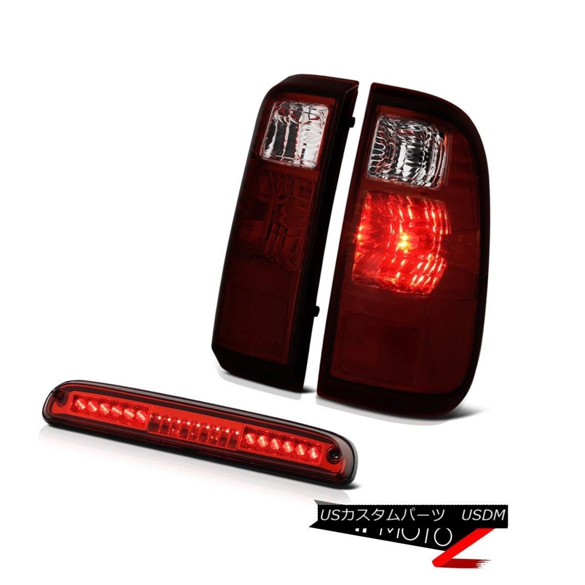 テールライト 08-10 Ford F250 F350 Red Smoke Tail Lights LED Roof Brake Cargo 3rd Brake Lamps 08-10フォードF250 F350赤煙テールライトLED屋根ブレーキ貨物第3ブレーキランプ