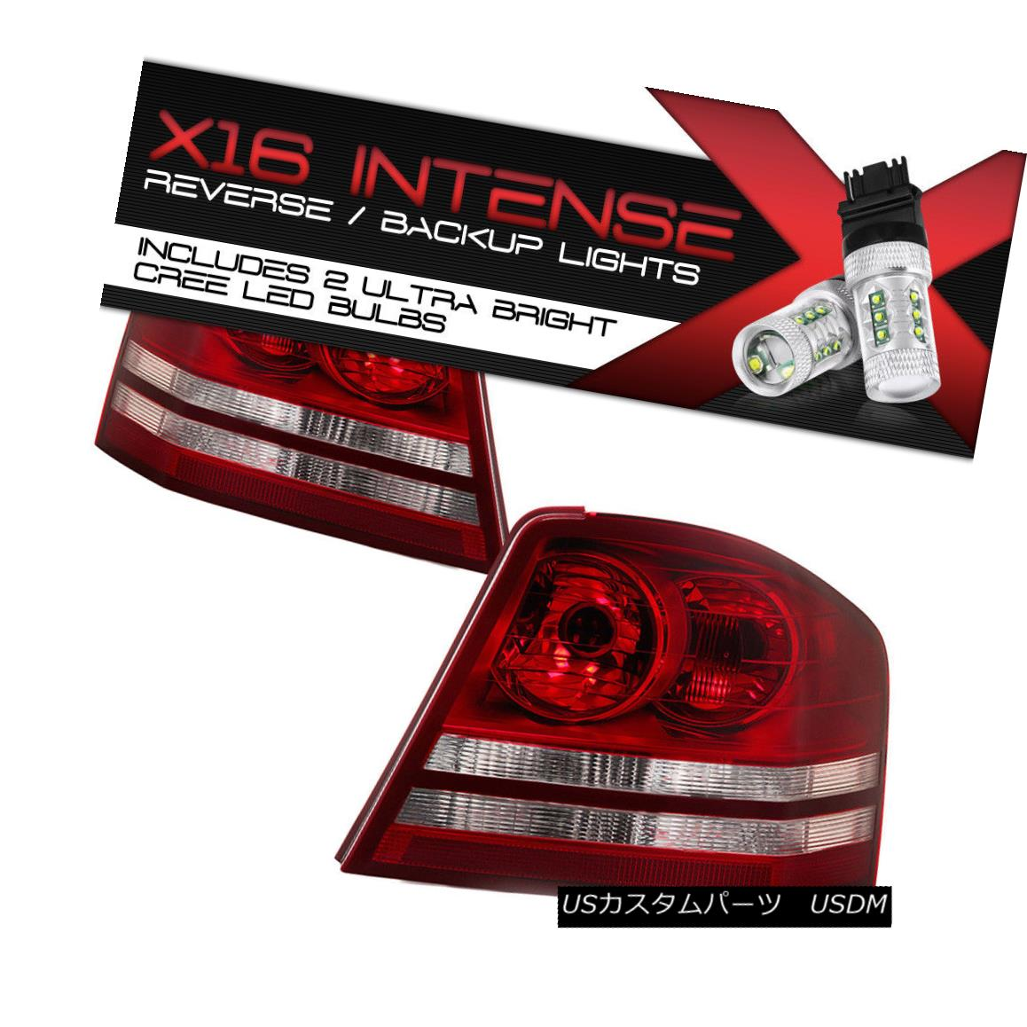テールライト High-Power CREE Backup 2008-2010 Dodge Avenger SE Sport Tail Lamps Replacement ハイパワークリーバックアップ2008-2010ダッジアベンジャーSEスポーツテールランプの交換