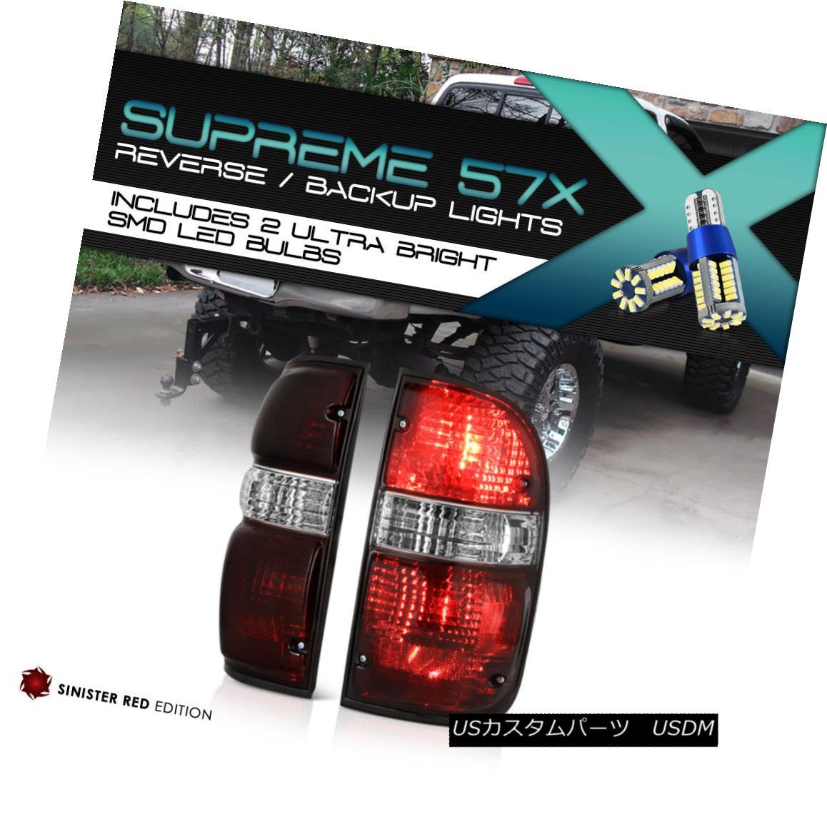 テールライト {360 Degree SMD Backup} Toyota Tacoma 2001-2004 4X4 Tinted Tail Light Left Right {360度SMDバックアップ}トヨタタコマ2001-2004 4X4テールライトテールライト右