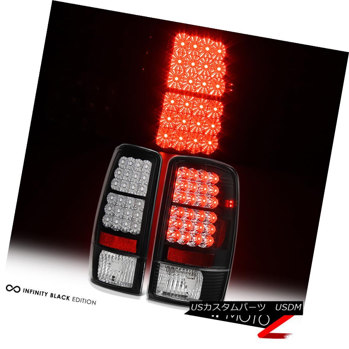 テールライト [HIGH QUALITY] 2000-2006 Suburban Tahoe Yukon XL Rear Brake LED Tail Light BLACK [高品質] 2000-2006郊外のTahoe Yukon XLリアブレーキLEDテールライトBLACK