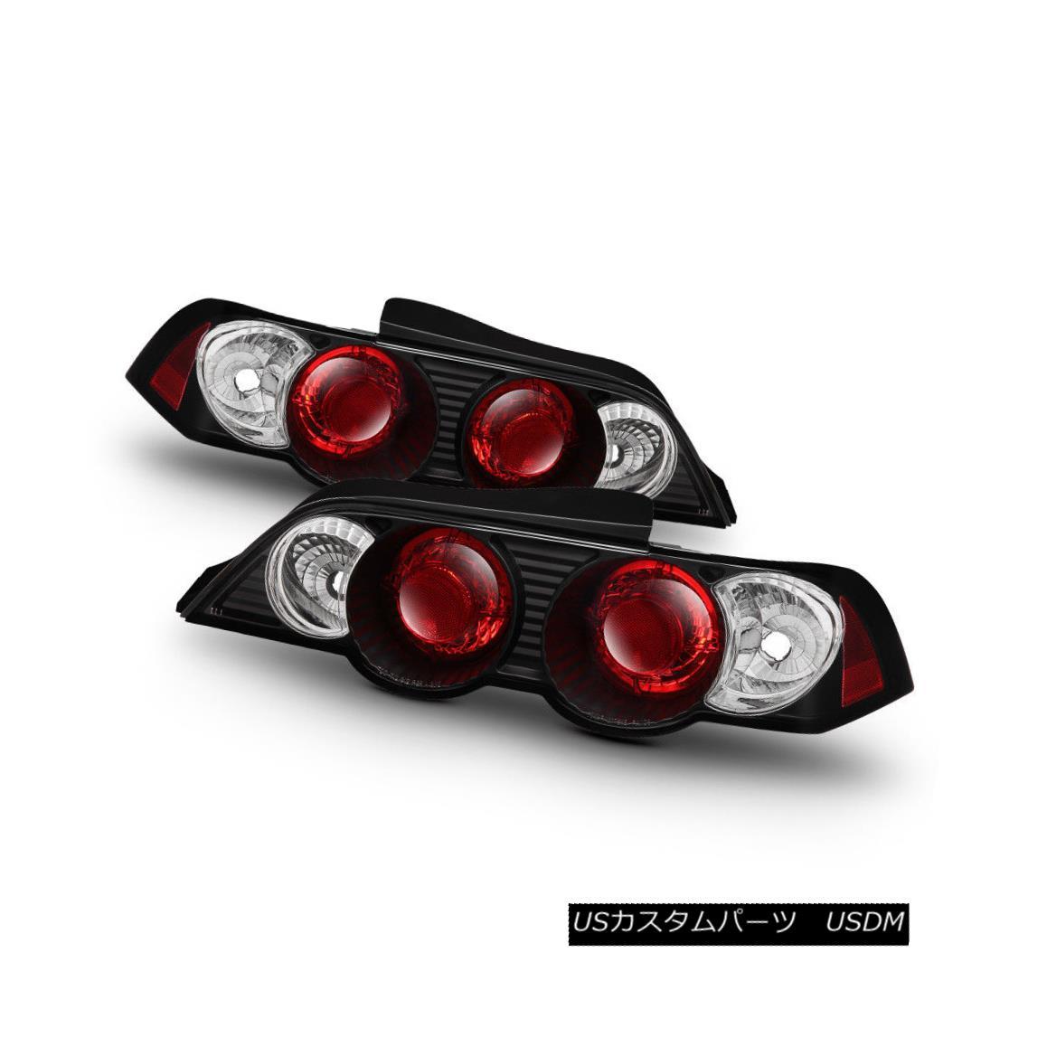 テールライト 02-04 New Acura RSX AT MT Coupe Black Tail Lights Lamps Rear Brake Pair LH RH 02-04ニューアキュラRSX AT MTクーペブラックテールライトランプリアブレーキペアLH RH