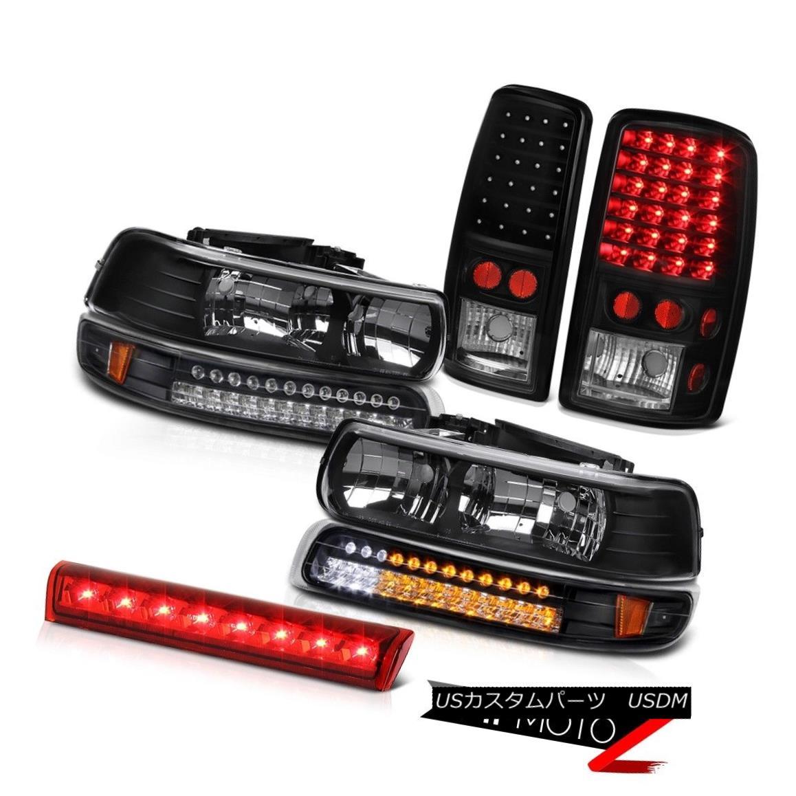 テールライト Left Right Headlights SMD Black LED Taillights 3rd Red 00 02 03 05 06 Tahoe 4.8L 左ライトヘッドライトSMDブラックLEDテールライト第3赤00 02 03 05 06タホ4.8L