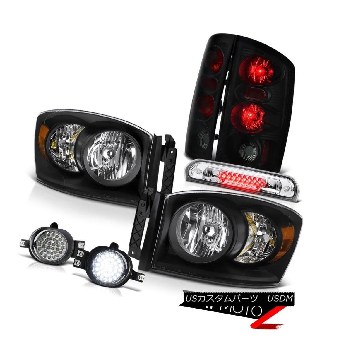 テールライト Raven Black Headlamps Smoke Taillights LED Driving Foglights 2006 Dodge Ram 1500 Raven BlackヘッドランプスモークテールライトLED Driving Fog Lights 2006 Dodge Ram 1500