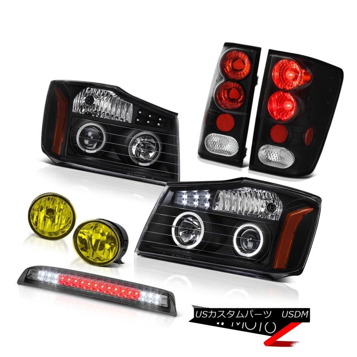 テールライト For 04-15 Titan LE LED Pro Headlamps Tail Lights Bumper Fog Roof Stop Tinted 04-15タイタンLE LEDプロヘッドランプテールライトバンパーフォグルーフストーンティント