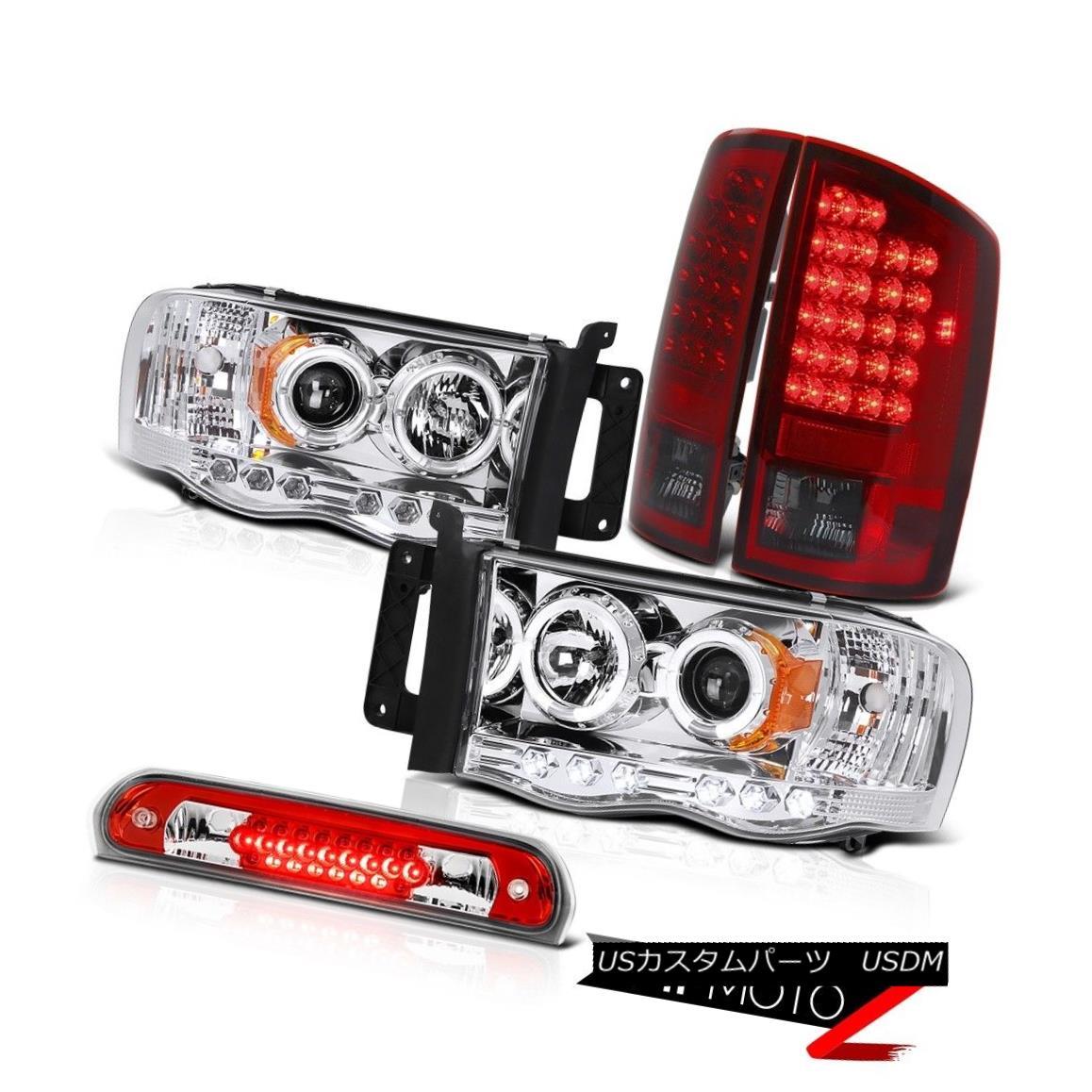 テールライト Chrome LED Headlights Bulbs Rear Tail Lights Third Brake Cargo 02-05 Ram Hemi クロームLEDヘッドライト電球リアテールライト3rdブレーキカーゴ02-05 Ram Hemi