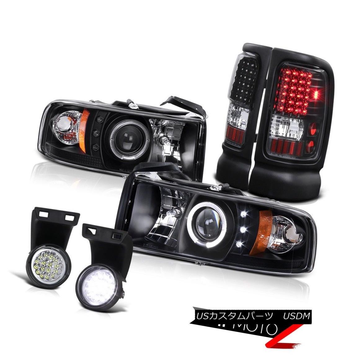 テールライト Black Halo Projector Headlight+Led Tail Lamp+6K White FULL Led Fog Light 02 RAM ブラックハロープロジェクターヘッドライト+ Ledテールランプ+ 6KホワイトFULL Ledフォグライト02 RAM