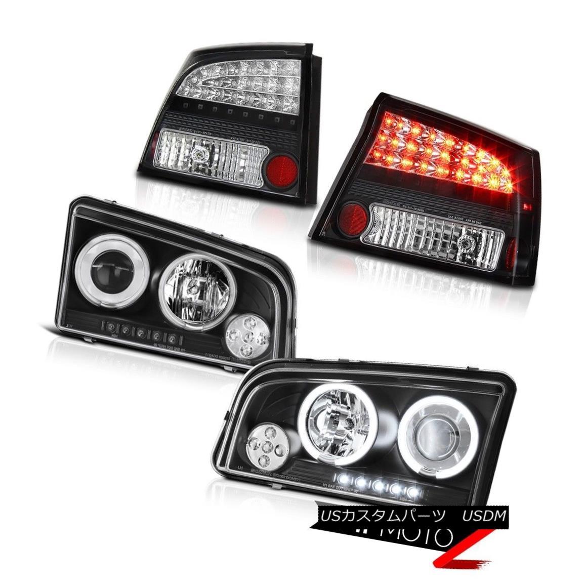 テールライト 06 07 08 Charger 3.5L CCFL Angel Eye LED Black Head Lamps Lights LED Taillights 06 07 08充電器3.5L CCFLエンジェルアイLEDブラックヘッドランプライトLEDテールライト