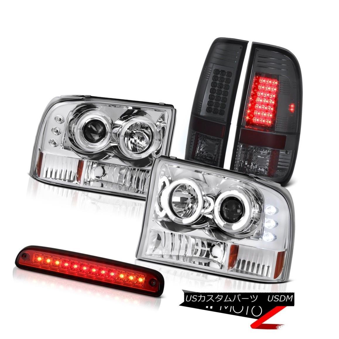 テールライト Angel Eye HeadTailLamps High Stop LED Red Parking TailLight 1999-2004 F250 King エンジェルアイHeadTailLampsハイストップLEDレッドパーキングTailLight 1999-2004 F250 King