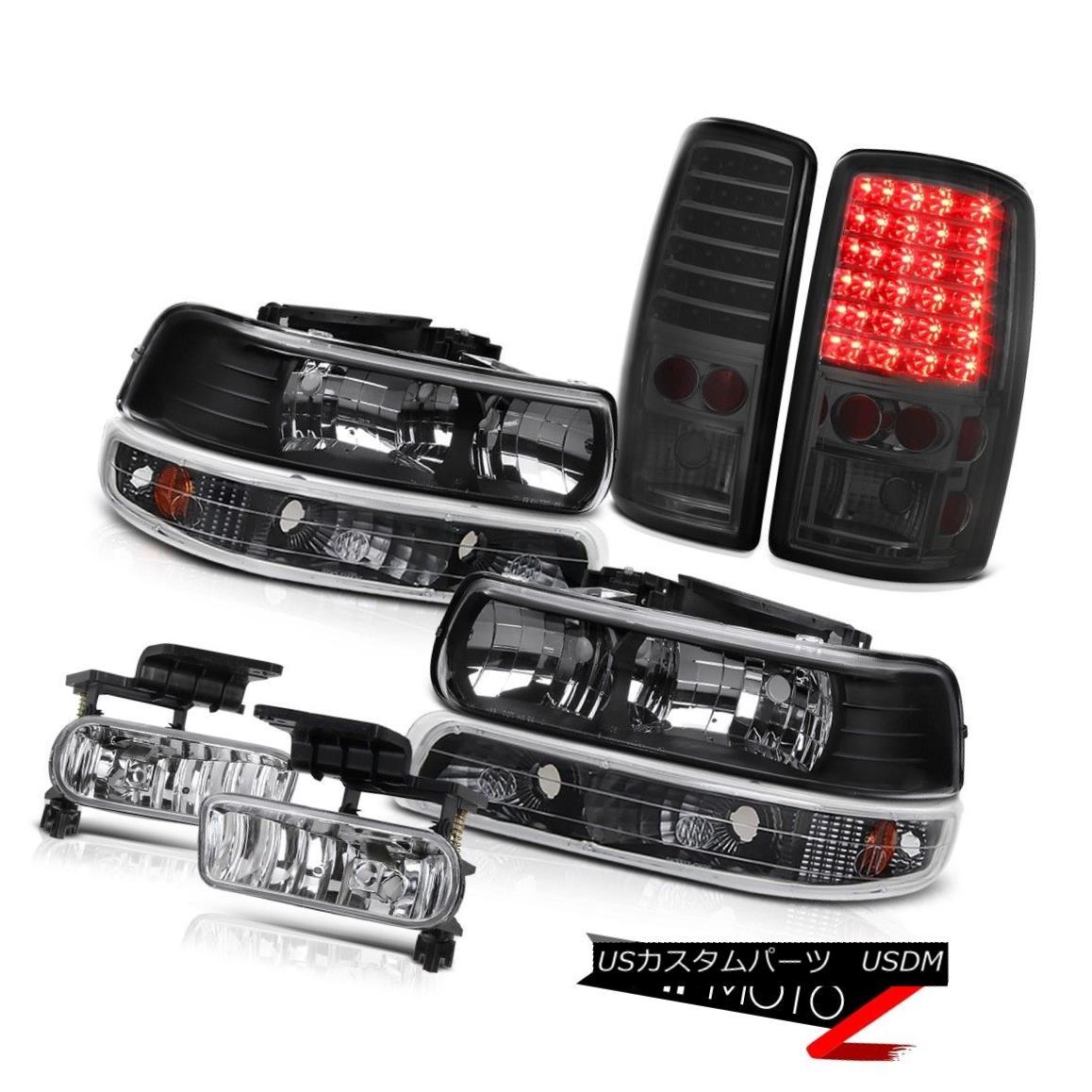 テールライト Black Diamond Headlights LED Tail Lights Chrome Fog 2000-2006 Suburban 6.0L ブラックダイヤモンドヘッドライトLEDテールライトクロムフォグ2000-2006郊外6.0L