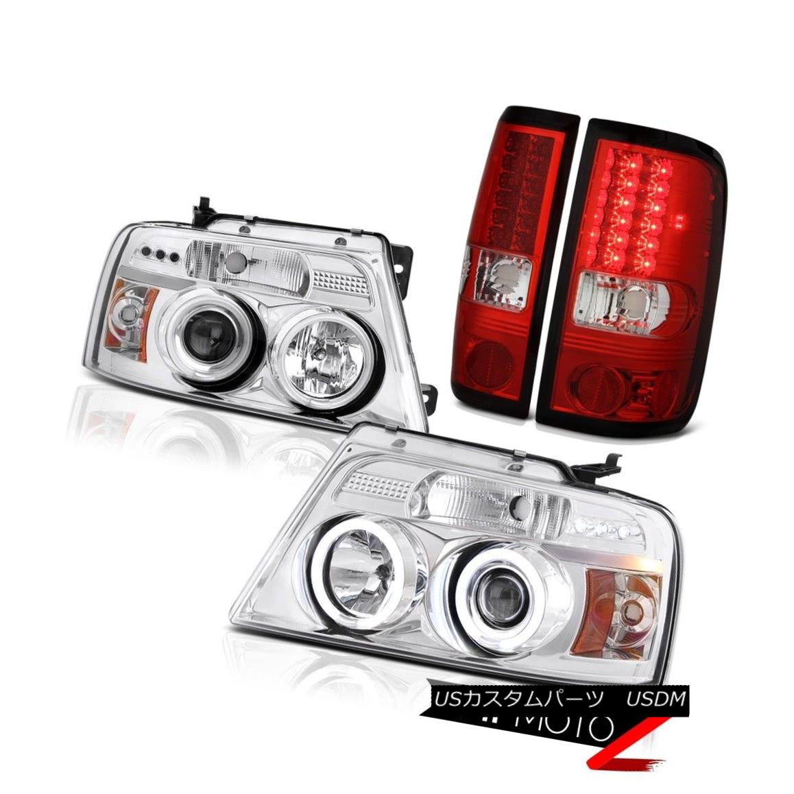 テールライト PICKUP F150 2004-2008 Chrome DEVIL EYE Projector Headlight CCFL LED Taillights PICKUP F150 2004-2008 Chrome Devil EYEプロジェクターヘッドライトCCFL LED曇り