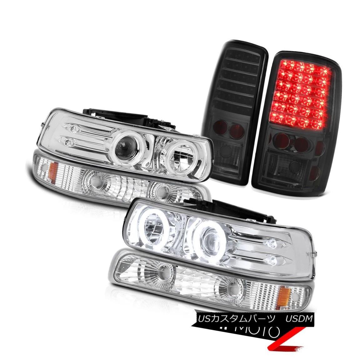 テールライト 2000-2006 Suburban 1500 Halo CCFL Headlamps Euro Parking Smoke LED Taillights 2000-2006郊外1500ヘリウムCCFLヘッドランプユーロパーキングスモークLEDテールライト