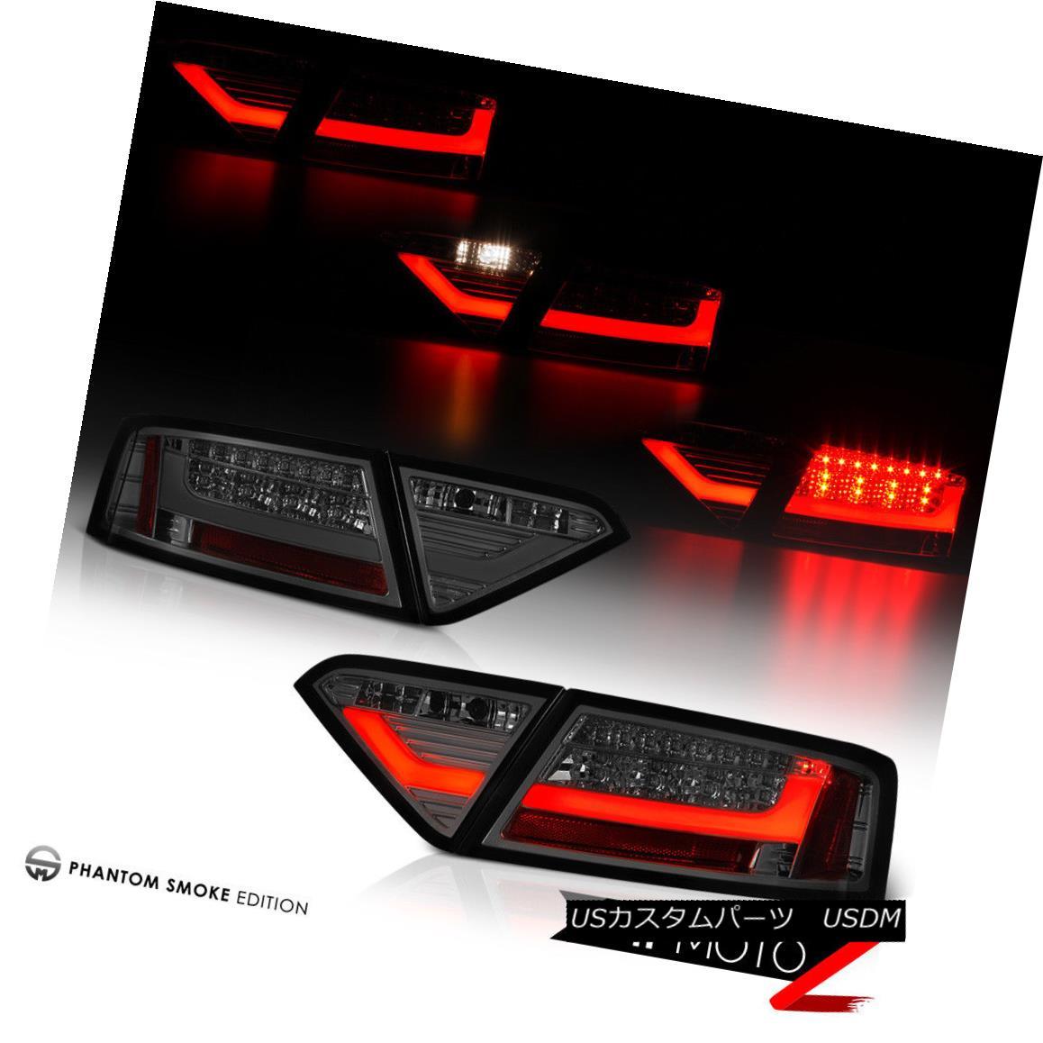テールライト !FiBeR OpTiC Light Tube! 2008-2012 Audi A5 S5 Smoke LED Brake Signal Tail Lights !光ファイバーオプティクスライトチューブ! 2008-2012 Audi A5 S5スモークLEDブレーキ信号テールライト