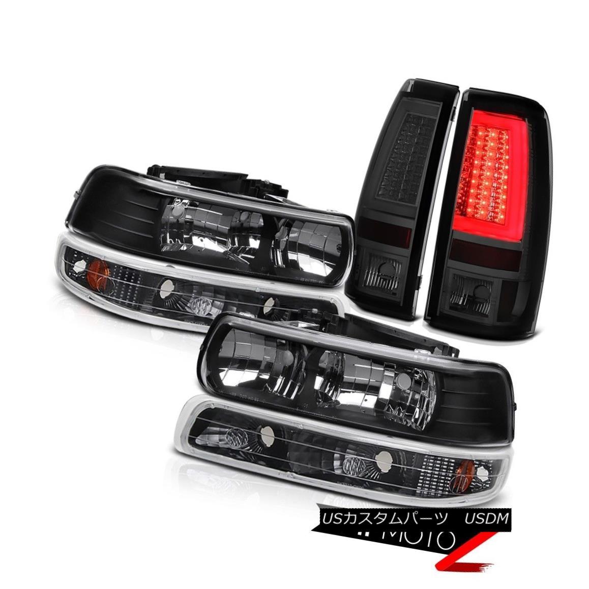テールライト 99-02 Silverado 4.3L Smoked Taillights Turn Signal Headlamps Light Bar Assembly 99-02 Silverado 4.3Lターンシグナルヘッドランプライトバーアセンブリ