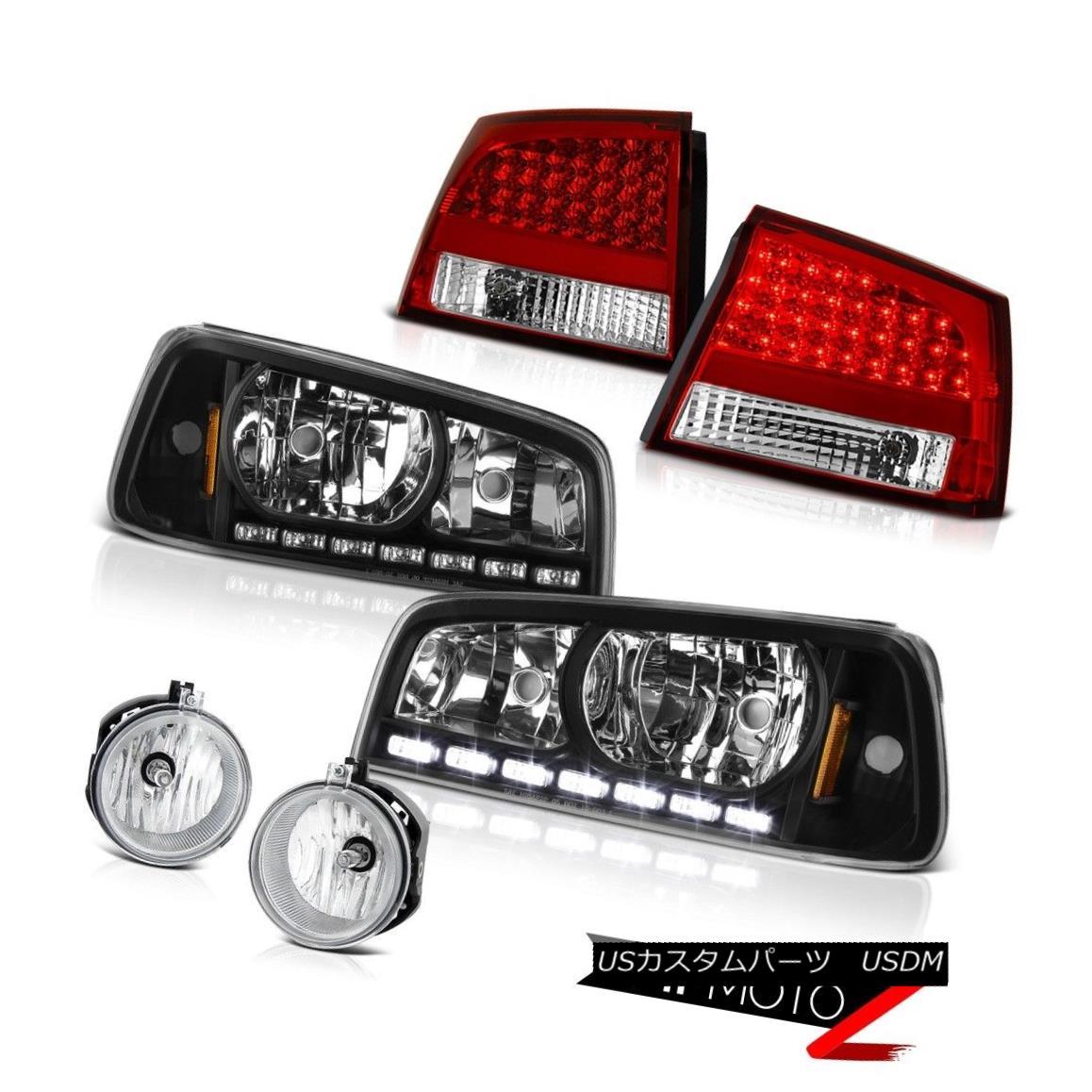 テールライト Crystal Black headlight LED Taillamp 2006 2007 2008 Charger Hemi Bumper Foglight クリスタルブラックヘッドライトLED Taillamp 2006 2007 2008 Charger Hemi Bumper Foglight