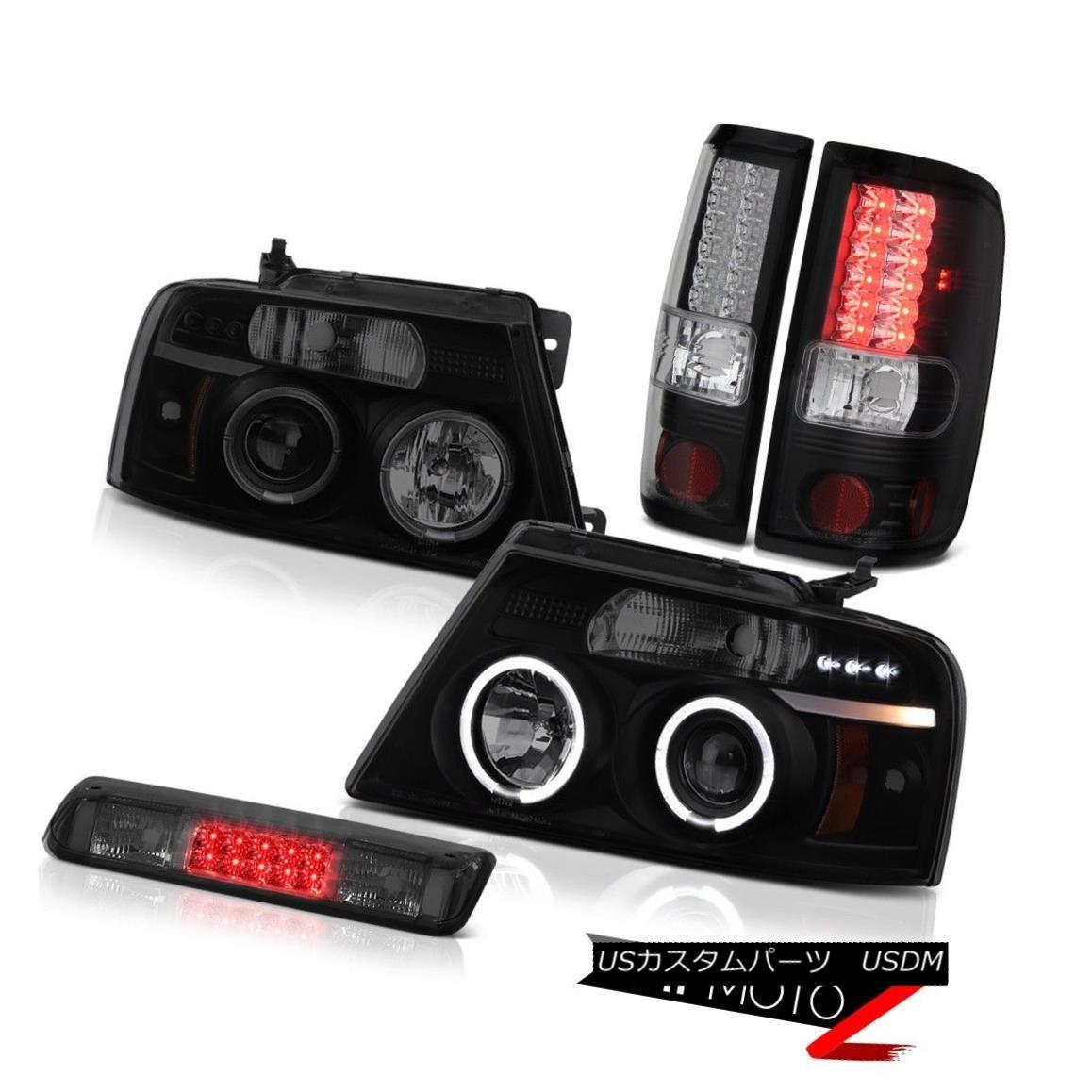 テールライト 04-08 Ford F150 XL Roof Brake Light Headlamps Parking Lights LED Dual Halo SMD 04-08 Ford F150 XLルーフブレーキライトヘッドランプパーキングライトLEDデュアルヘロSMD