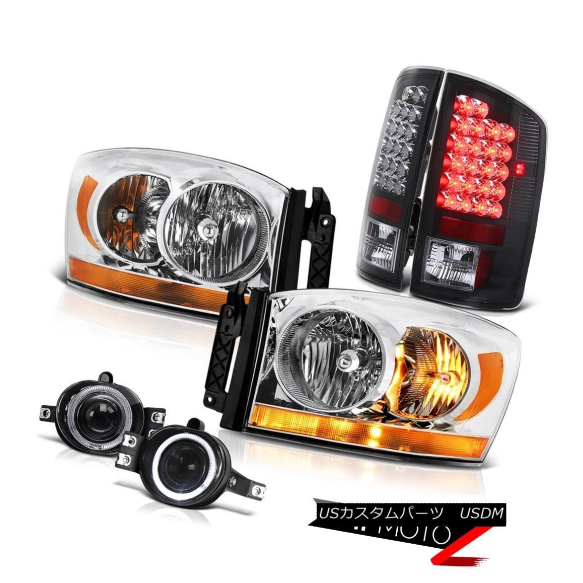 テールライト 2006 Ram Slt Chrome Headlights Foglights Rear Brake Lights LED