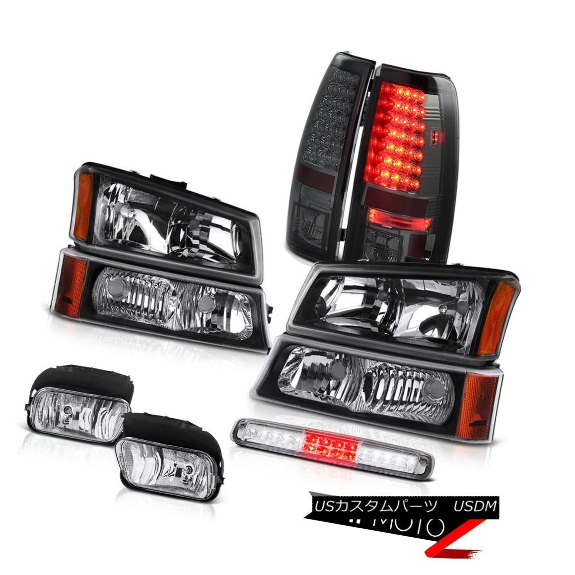 テールライト 03-06 Silverado Fog Lights Black Signal Lamp Third Brake Headlamps Rear Lamps 03-06 Silveradoフォグライトブラックシグナルランプサードブレーキヘッドランプリアランプ
