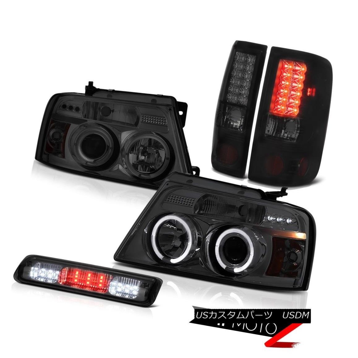 テールライト 04-08 Ford F150 FX4 Smokey Third Brake Light Projector Headlights Taillights LED 04-08 Ford F150 FX4 Smokey第3ブレーキライトプロジェクターヘッドライトテールランプLED