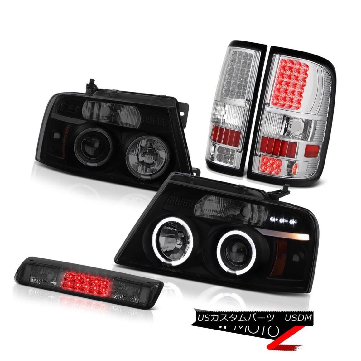 テールライト 04-08 Ford F150 XLT Smoked Third Brake Light Chrome Taillights Headlights LED 04-08 Ford F150 XLTスモークサードブレーキライトクロームテールライトヘッドライトLED