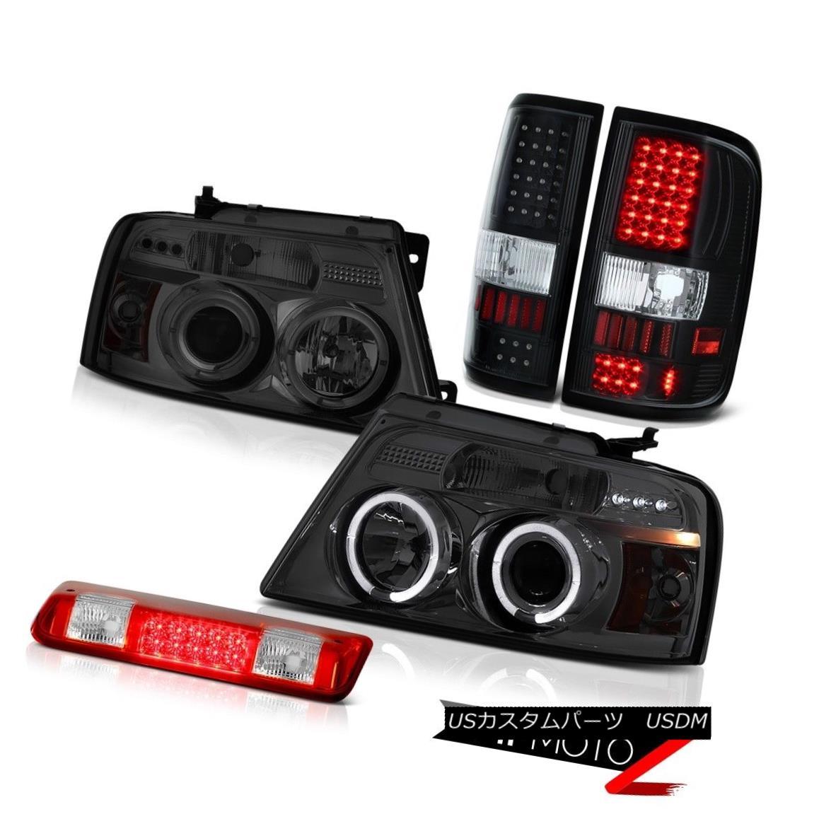 テールライト 04-08 Ford F150 STX Red Third Brake Light Parking Lights Smoked Headlamps LED 04-08 Ford F150 STXレッド第3ブレーキライトパーキングライトスモークヘッドランプLED