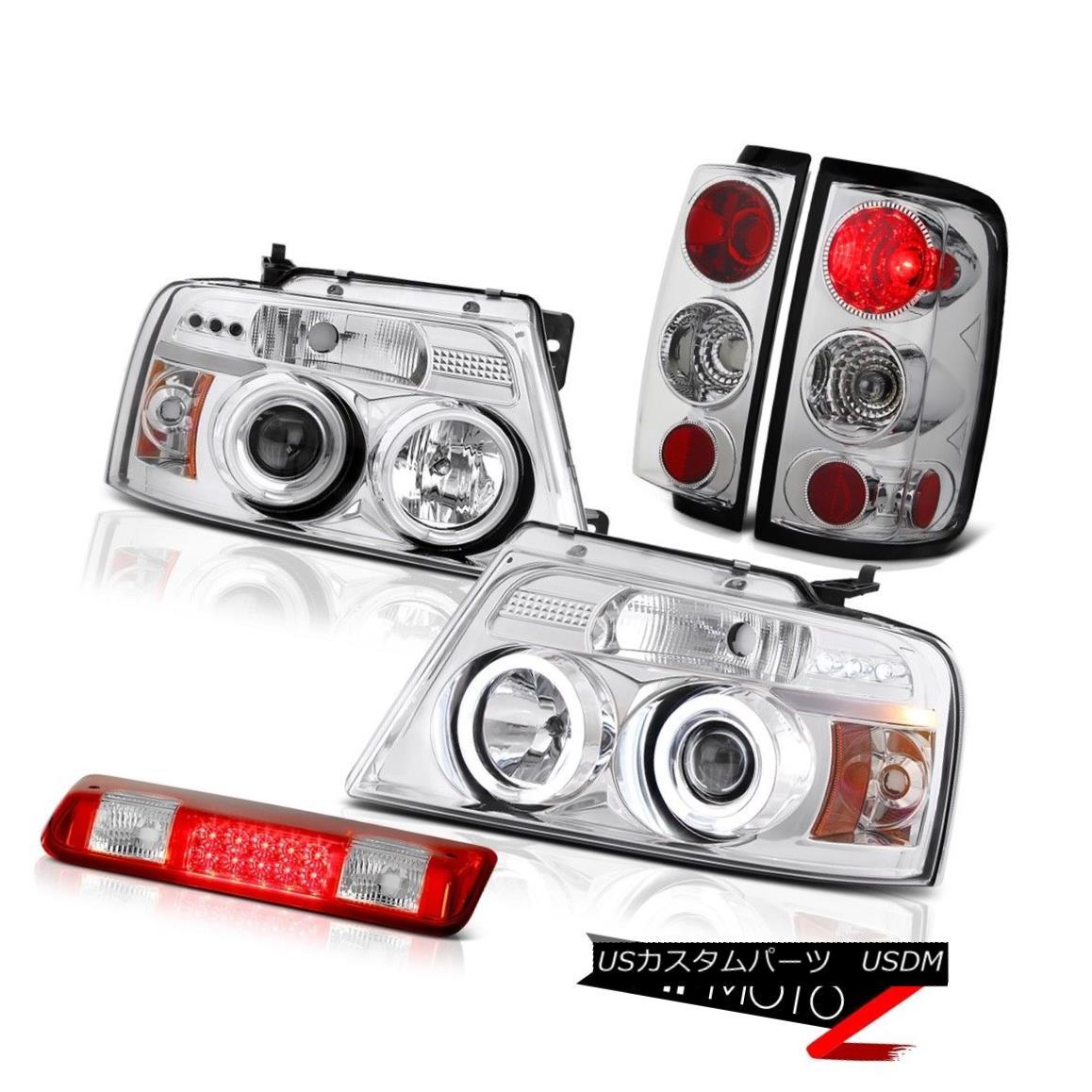 テールライト 04-08 Ford F150 XLT Red High Stop Lamp Euro Clear Headlamps Taillamps LED Newest 04-08 Ford F150 XLTレッドハイストップランプユーロクリアヘッドランプTaillamps LED最新